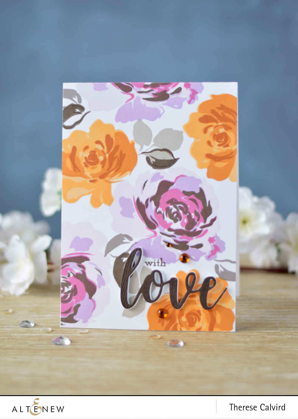 Altenew - Floral Fantasy - Super Script 2 - Lostinpaper (card video) 2 copy