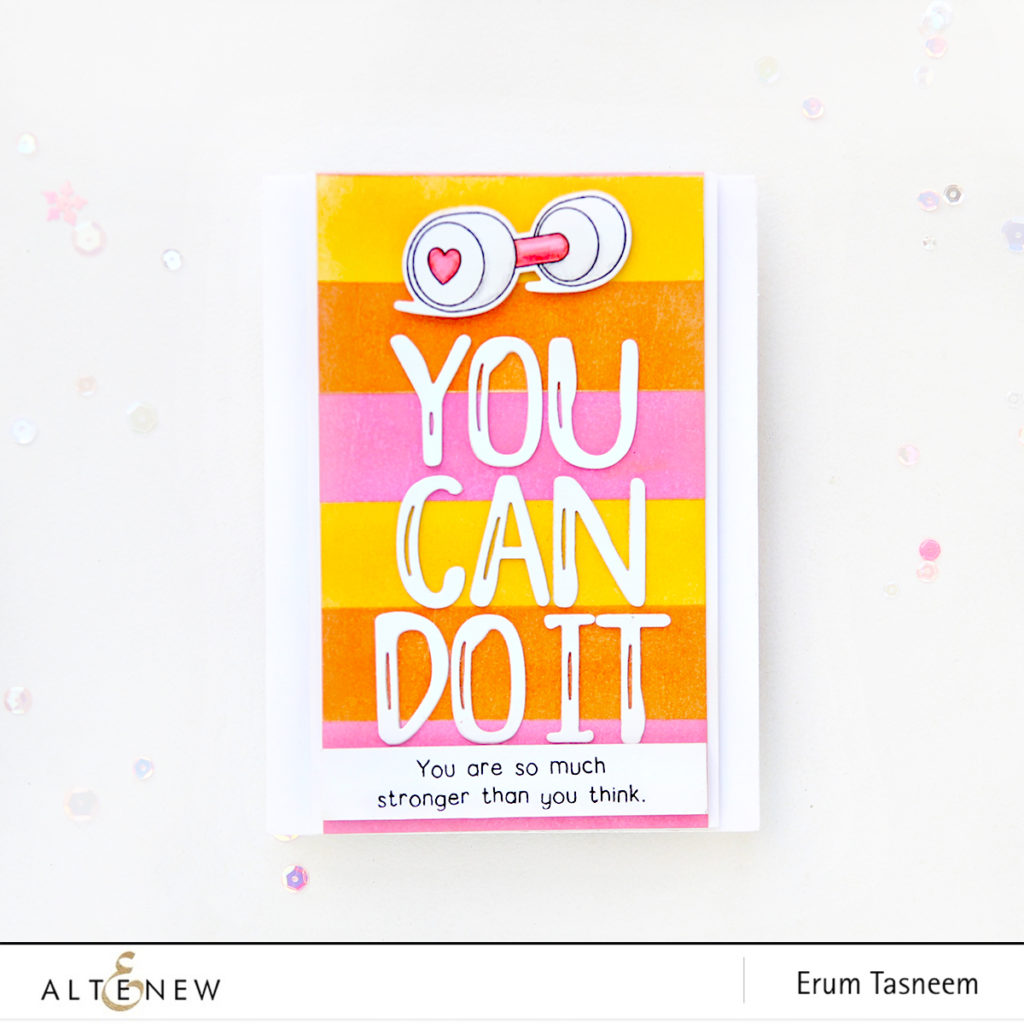 Altenew Brush Alpha Die Set | Best Dad | Be Strong Stamp Set | Erum Tasneem | @pr0digy0 | @altenew