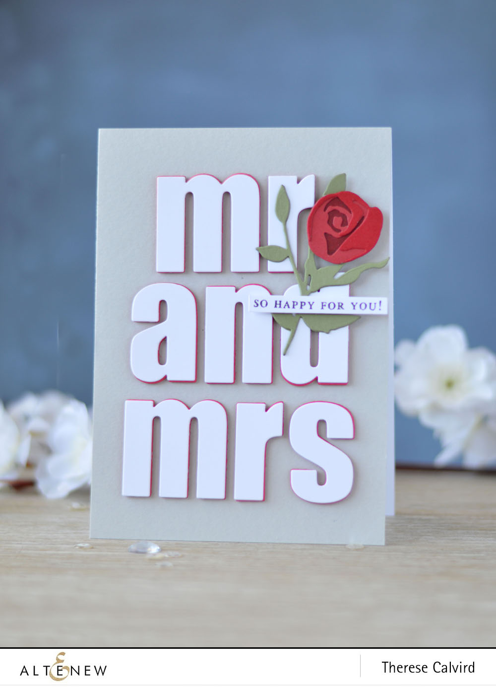 Altenew - Rose Flurries 3D Die - Bold Alphabet Die - BAF Magnolia - Lostinpaper (card video) 1 copy