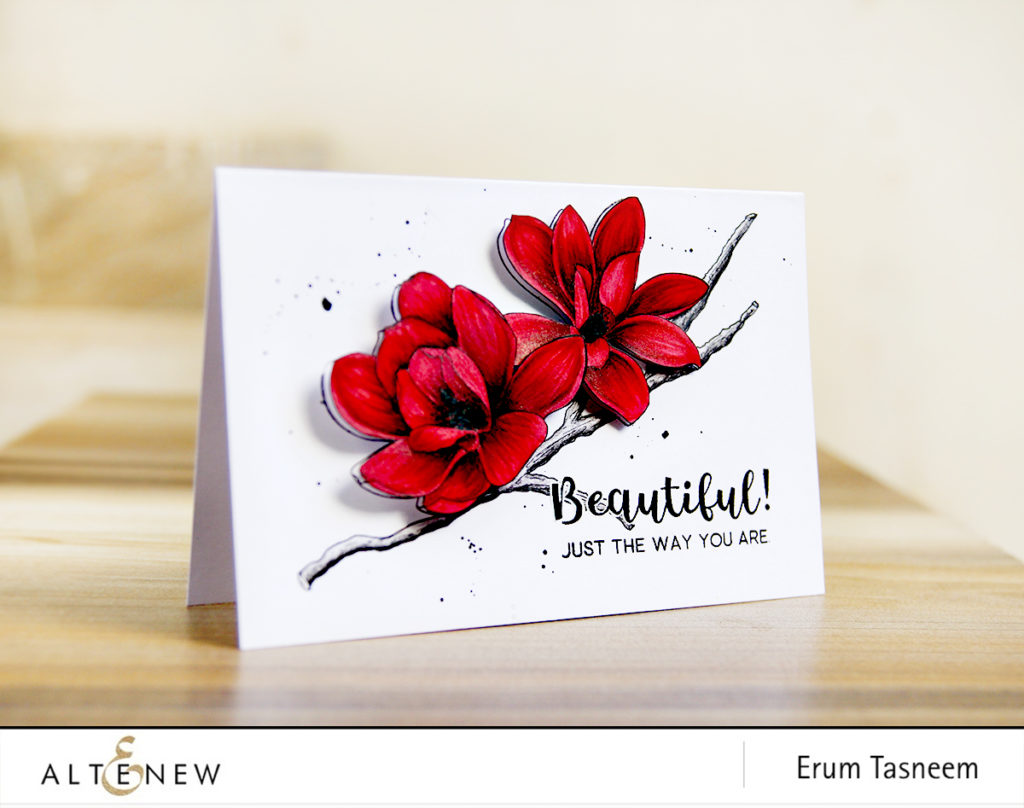 Altenew Magnolias for Her coloured with Artist Markers | Erum Tasneem | @pr0digy0 | @altenew