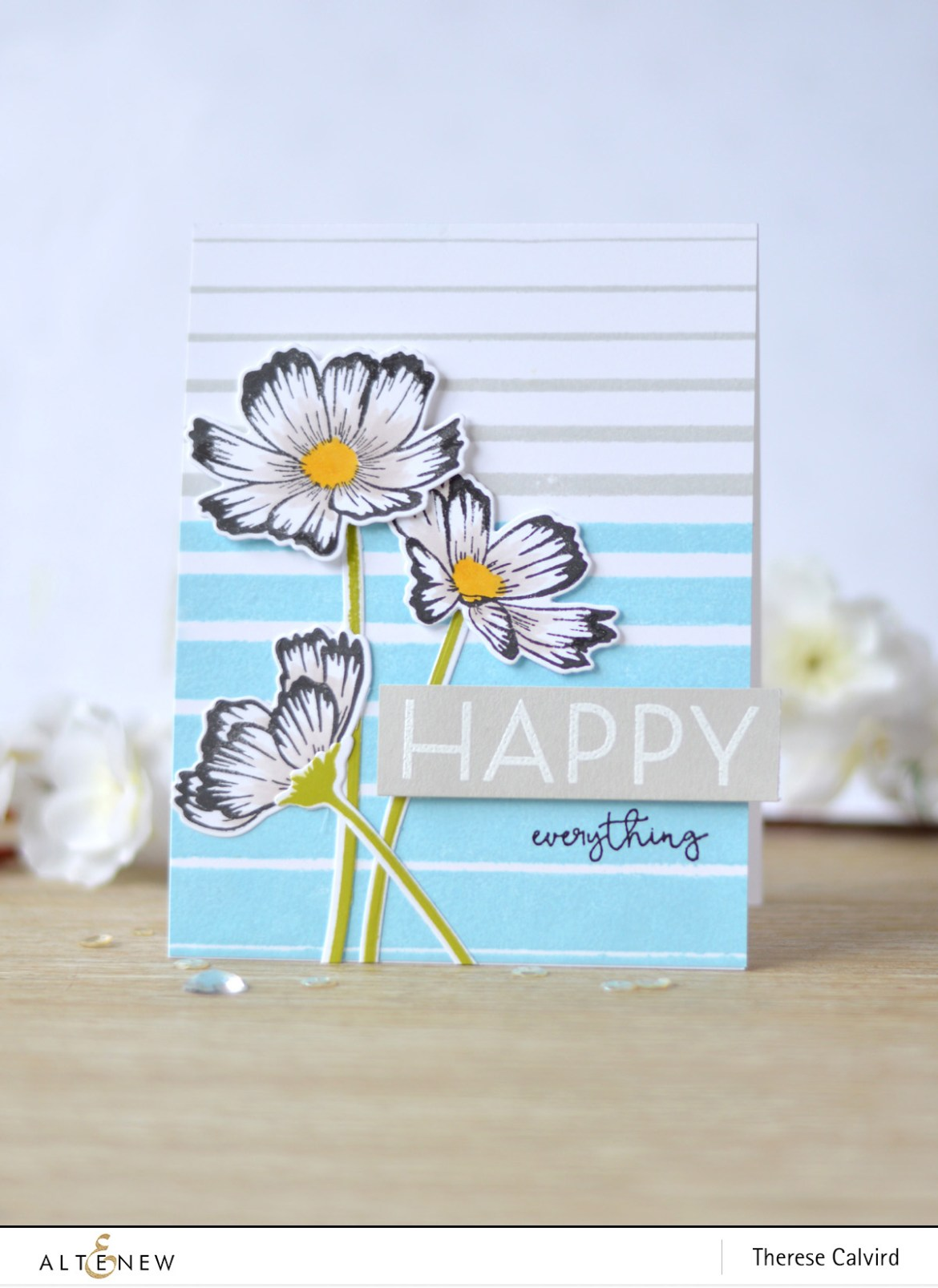 Altenew - Gradient Stripes - Stunning Cosmos - Therese Calvird (card video) 1 copy
