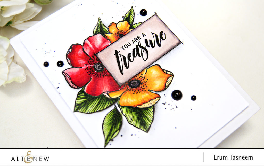 Altenew Adore You Stamp Set | Artist Markers | Erum Tasneem | @pr0digy0