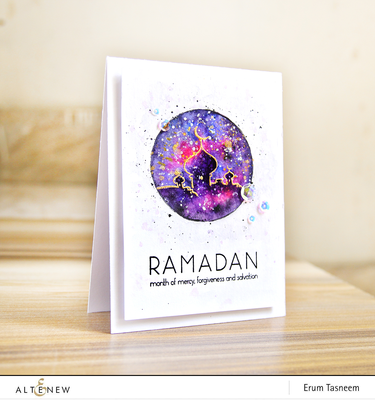 Video watercolor galaxy with ramadan greetings altenew blog altenew ramadan greetings stamp set watercolor galaxy erum tasneem pr0digy0 m4hsunfo