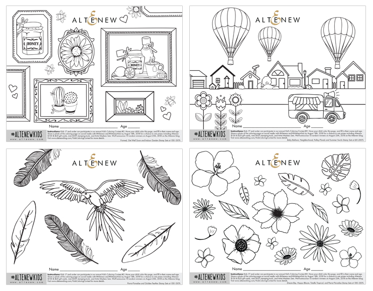 Kids Coloring Contest #2 - Altenew Blog