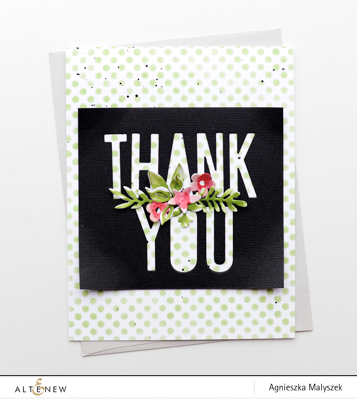 Thank You Card With Negative Die Cutting Altenew Blog