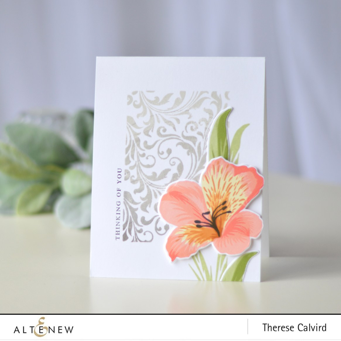 Altenew - Peruvian Lily - Block Print -Therese Calvird (card video) 1 copy