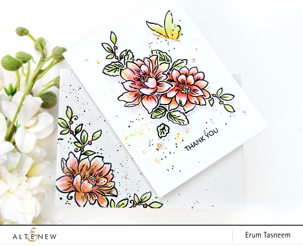 Altenew Sunlit Flower Card Making Kit | Erum Tasneem | @pr0digy0