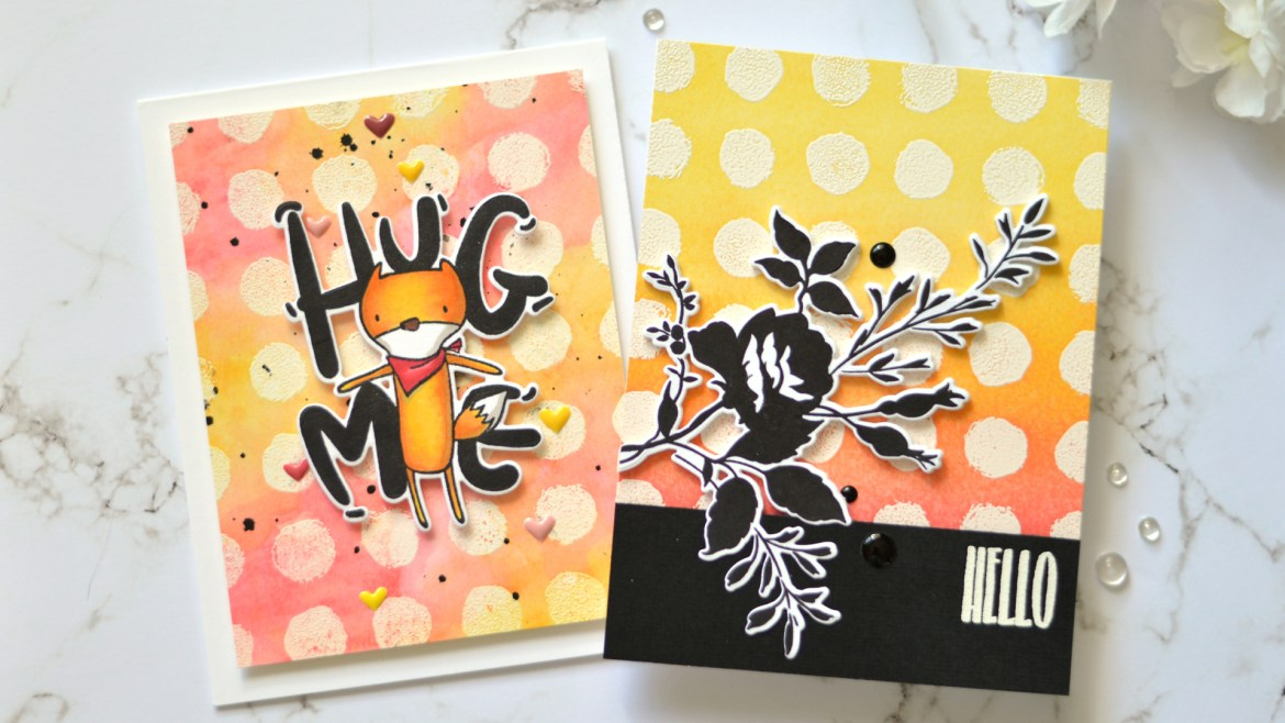 Altenew - Watercolor Dots - Dainty Bouquet - Hug Me - Take 2 with Therese (card video)