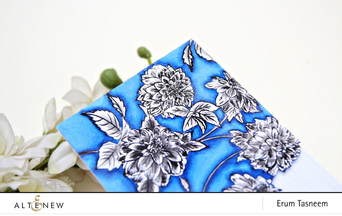 Altenew Beautiful Blossoms Stamp Set + Artist Markers | Erum Tasneem | @pr0digy0