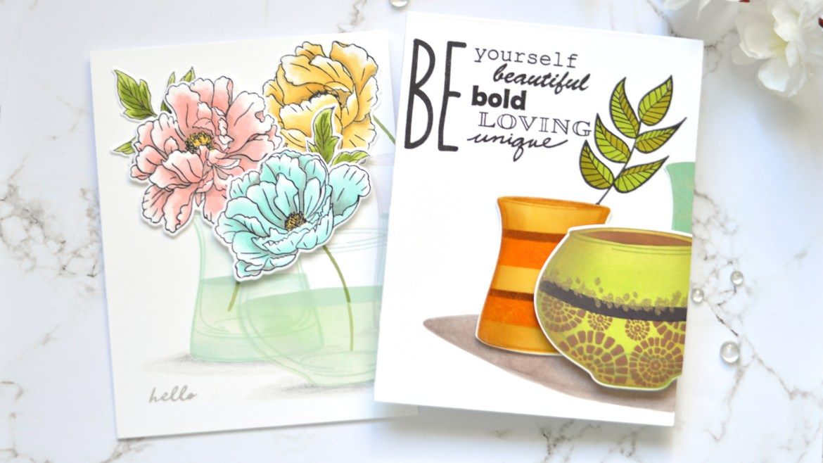 Altenew - Versatile Vases - Thoughts & Reminders - Take 2 with Therese (card video) 3 copy