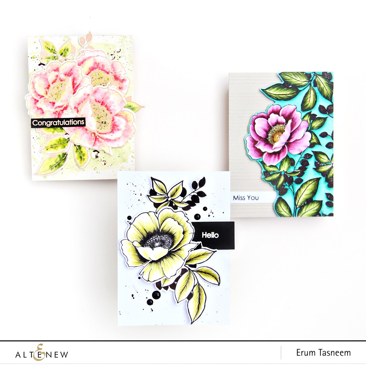 Altenew Wallpaper Art Stamp Set | Erum Tasneem | @pr0digy0