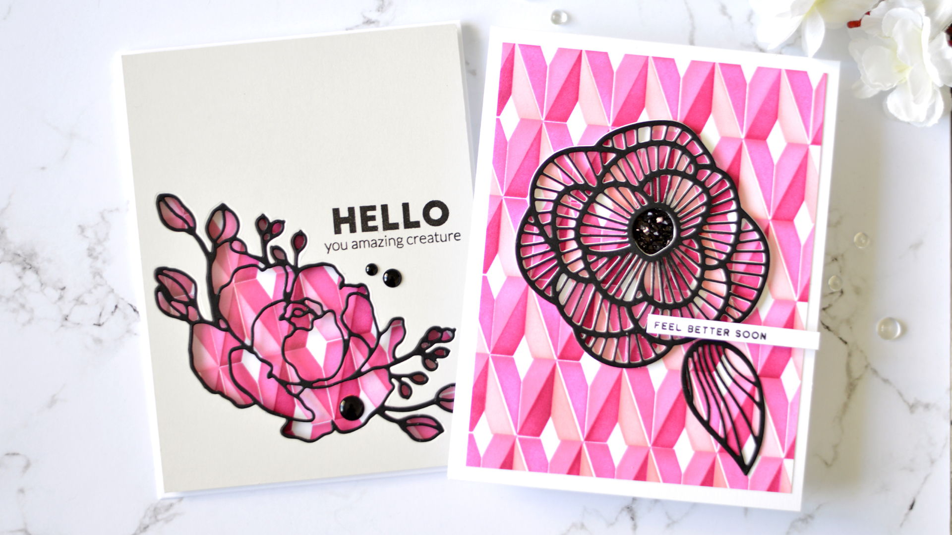 Take 2 with Therese: Diamond Builder Stencil and Die-Cut