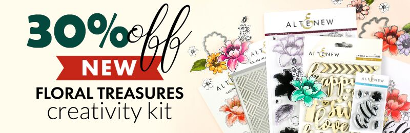 30% OFF floral treasures creativity kit