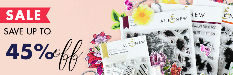 Save up to 45% on stamps, dies, inks and more!