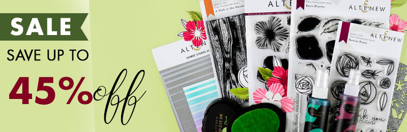Save uo to 45% OFF stamps, dies, inks and more!