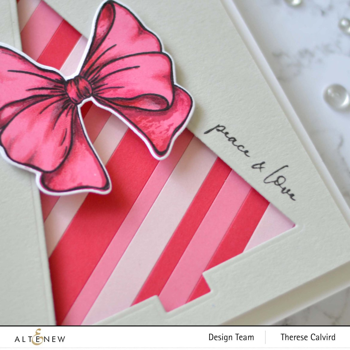 Altenew - Festive Foliage - Gradient Cardstock - Take 2 With Therese (card video) 1 copy