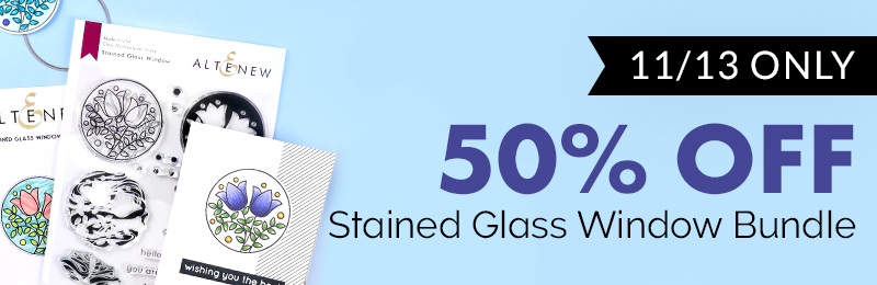 50% OFF on the Stained Glass Window Stamp & Die Bundle