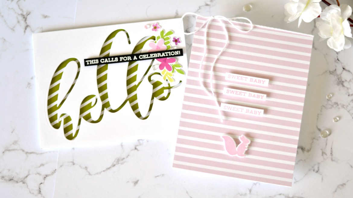 Altenew - Sentiment Strips 2 - Spring Fling - A Love For Stripes - Take 2 With Therese (card video) 1 copy
