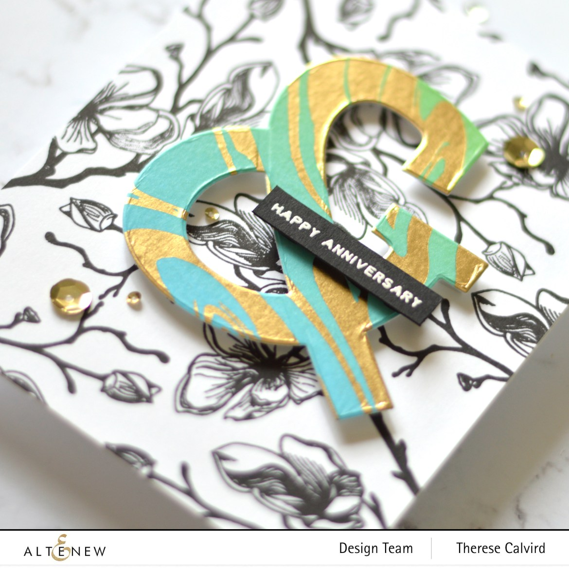 Altenew - Marbled Dream Washi Tape - Mega Ampersand Die - Take 2 With Therese (card video) 1