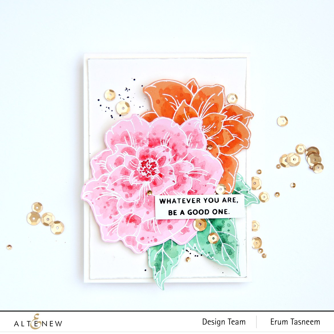 Altenew Courageous You Stamp Set | Erum Tasneem | @pr0digy0