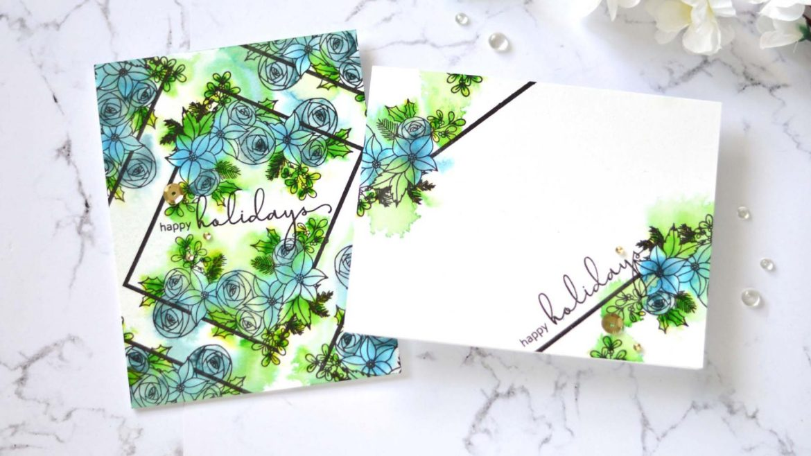 Two Handmade Floral Cards Using Altenew Festive Floral Stamp Set