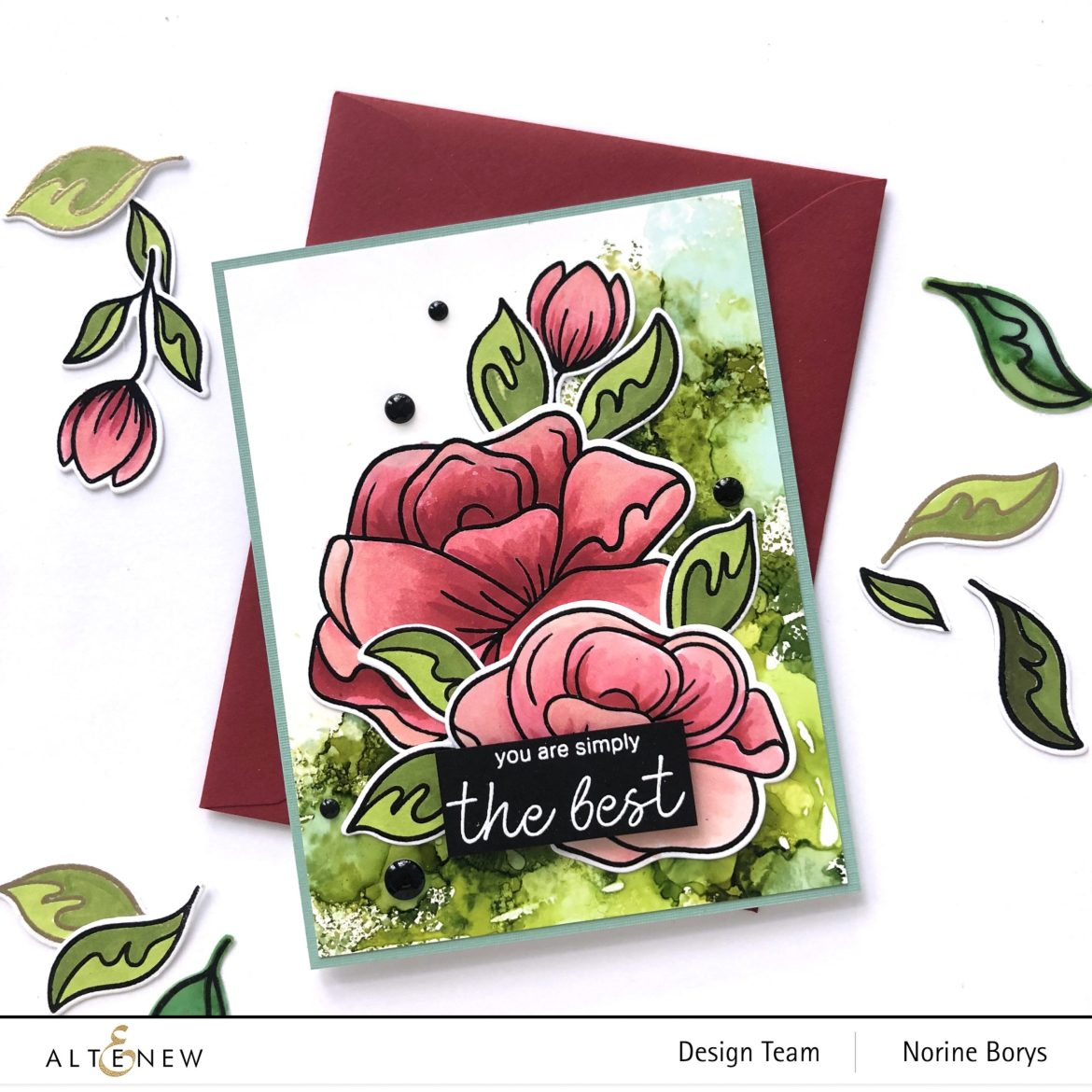 Floral Card Using Altenew Simple Roses Stamp Set