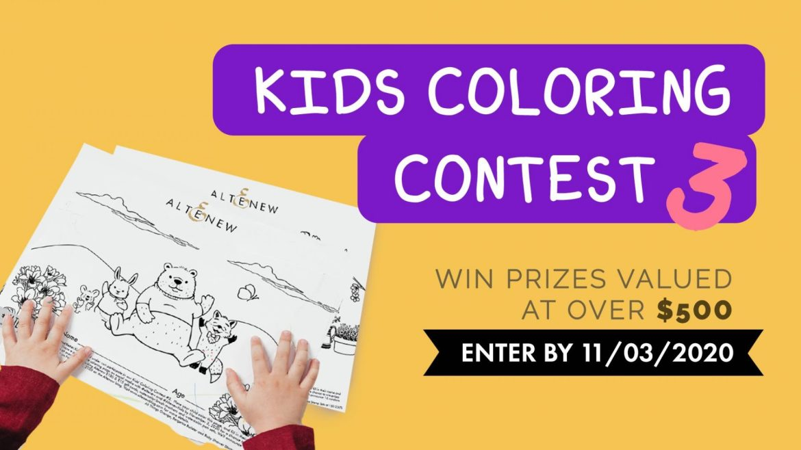 kids coloring contest banner