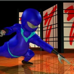 "Still image from ""Chubby Ninja vs Master Key"" animation"