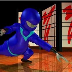 "Still image from ""Chubby Ninja vs Master Key"" animation"