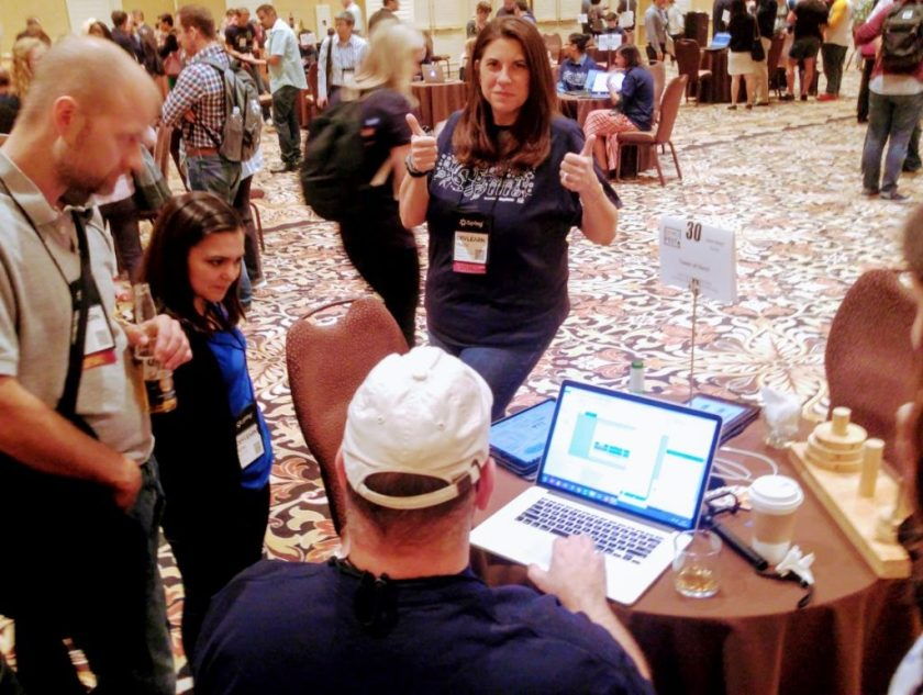 Kevin Thorn & Tracy Parish showcase the Tower of Hanoi game