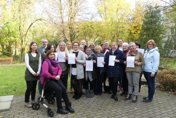 Gruppenbild der Teilnehmenden des Pflegekurses