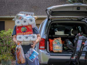 Einkaufen während der Corona-Pandemie
