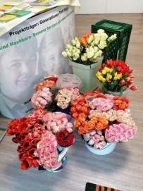 Foto der Blumen, die verschenkt wurden.