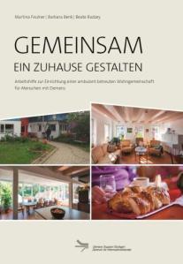 Titelbild der Broschüre. Verschiedene Beispielfotos aus Wohngemeinschaften