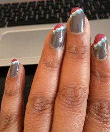 Grey steps manicure