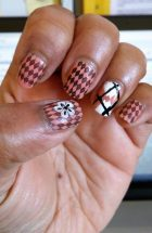 Stamping & argyle manicure