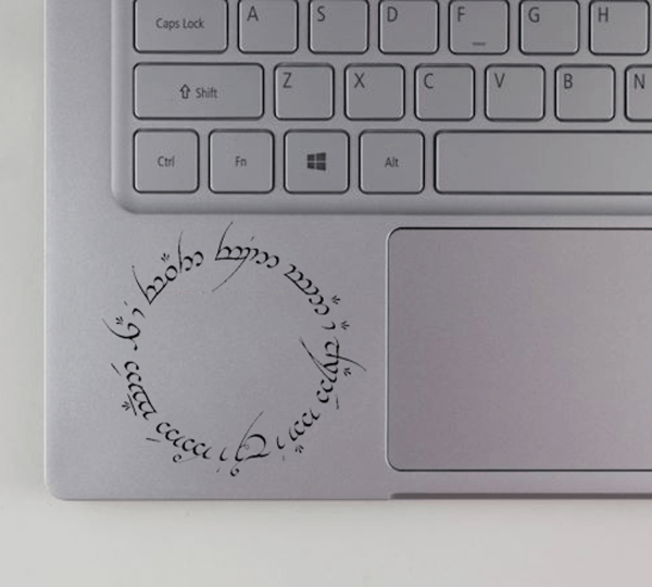 Lord of the Rings The One Ring Inscriptions Decal