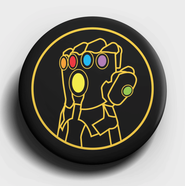 Infinity Gauntlet Button Pin