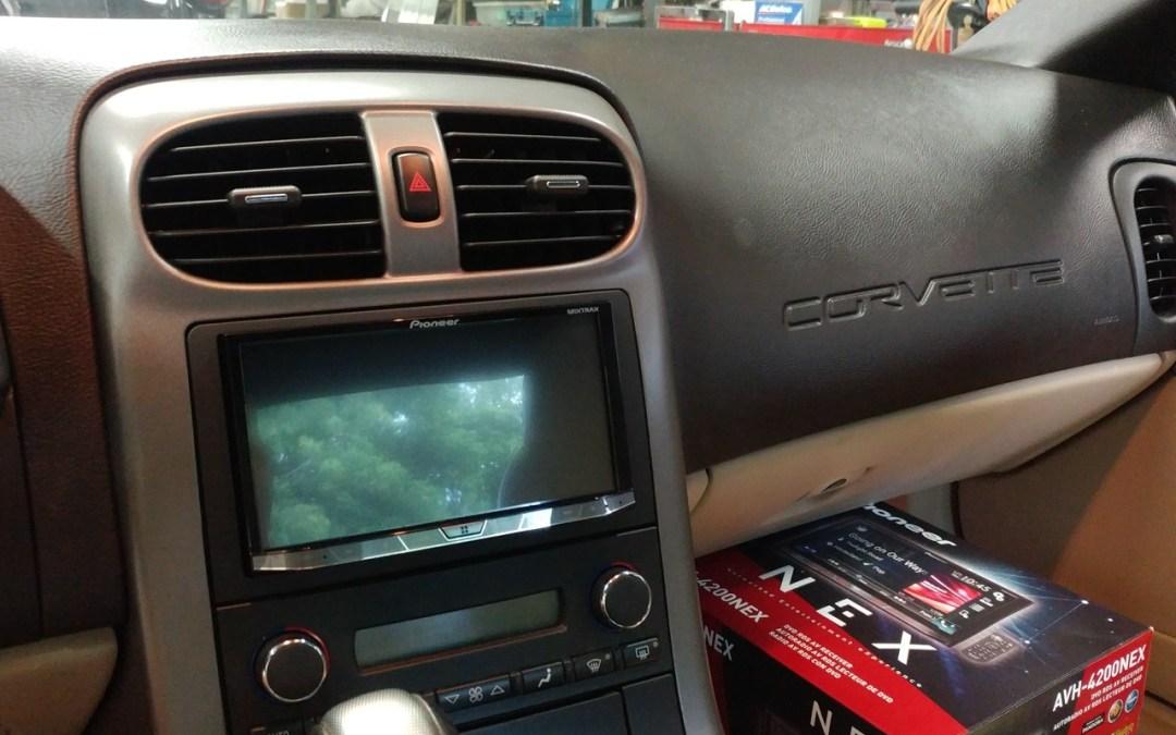 Chevrolet Corvette 2 din radio and back up camera install
