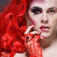 Shocking Before and After Half-Drag Portraits