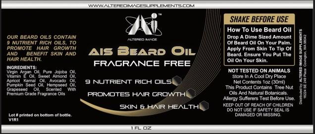 AIS Beard Oil (Fragrance Free)