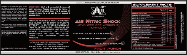 AIS Nitric Shock (Fruit Punch)