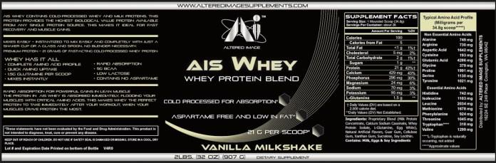 AIS Whey (Vanilla Milkshake) - 2 Pounds
