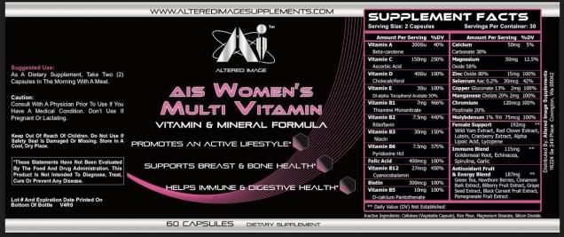 AIS Womans Multi Vitamin