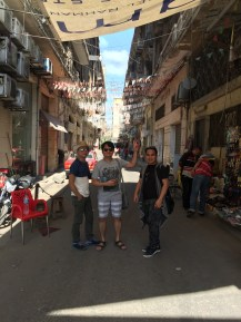 Leisure walk along the busy streests and souqs of Alexandria. Long walks and crazy heat will not get the best of this three.