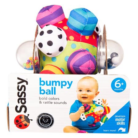 15. Sassy Developmental Bumpy Ball