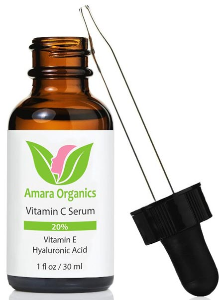 8. Amara Organics Vitamin C Serum for Face