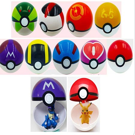 4. Moonideal 9 Pieces Different Style Ball +9 Pieces Figures Plastic Super Anime Figures