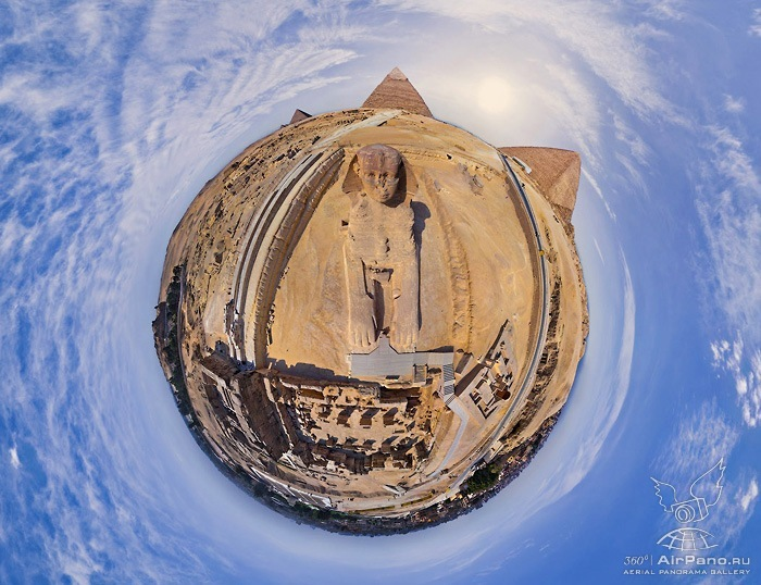 Great Pyramids of Giza in Egypt • 360° Aerial Panorama
