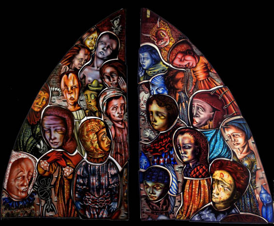 Judith Schaechter's Macabre And Dramatic Stained Glass Windows